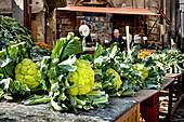 Vegetables, market, Mercato di Ballaró, Palermo, Sicily, Italy