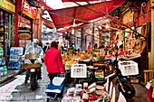 People in the Market, Mercato della Vucciria, Palermo, Sicily, Italy