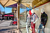 Fashion shop with mannequins, Via Liberta, Palermo, Sicily, Italy