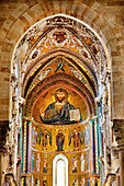 Mosaic, Cathedral, Cefalú, Palermo, Sicily, Italy