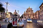 Cathedral, Piazza Duomo, Catania, Sicily, Italy