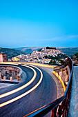 View from Santa Maria delle Scale towards Ragusa Ibla, Ragusa, Sicily, Italy
