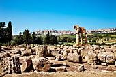 Temple of Dioscure, Valley of temples, Agrigento, Sicily, Italy