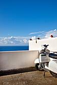 Scooter, Malfa, Salina Island, Aeolian islands, Sicily, Italy