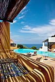Pool, Hotel Signum, Malfa, Salina Island, Aeolian islands, Sicily, Italy