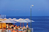 Restaurant at the lido beach complex facilities, Funchal, Madeira, Portugal