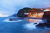 Küstenlandschaft im Abendlicht, Ponta do Sol, Madeira, Portugal