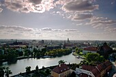 Wroclaw - a panoramic view of the Old Town from the cathedral tower