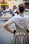 Folklore, Kunde, Mädchen, Regional, Spanien, Tanz, Valencia, Valencian, L55-924671, agefotostock