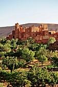 Maroc, la kasbah de Tamdaght, ancienne demeure du Glaoui, jadis Seigneur de la région de Ouarzazate