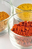 Variety of Spices, Paprika, Coriander, Curry