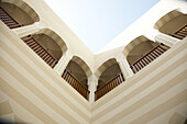View on the facede from inner courtyard, The Oberoi Sahl Hasheesh, Egypt