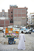 Trailer with fruits in downtown, Hurghada, Egypt