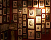 Photos on the wall, Hotel Sacher, Vienna, Austria
