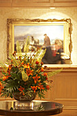 Bouquet in the hotel reception at the Old Course Hotel St. Andrews, Scottland
