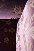 Flower tracery on the upholstery, Hotel Villa Joya, Albufeira, Portugal