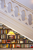 Library under the stairs at Hotel Villa Joya, Albufeira, Portugal
