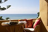 Sea view from the balcony at Hotel Villa Joya, Albufeira, Portugal