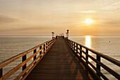 Pier, Baltic sea spa Binz, Ruegen, Mecklenburg-Vorpommern, Germany