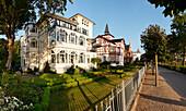 Mansions along sea front, Baltic sea spa Binz, Ruegen, Mecklenburg-Vorpommern, Germany