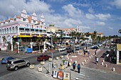 Bunte, holländisch beeinflußte Kolonialarchitektur, Oranjestad, Aruba, ABC-Inseln, Karibik