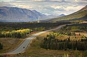 Autumn scenery along Haines Highway, Yukon Territory, Canada