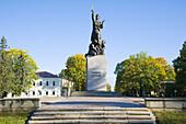 Latgales Mara monument commemorates the liberation of Latgale from the Bolsheviks in January 1920 and is the symbol of the Latgalian nationalism, Rezekne, Latvia