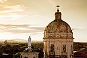 Rooftop view of the Iglesia de la Merced, Granada, Nicaragua