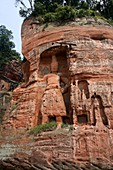 Leshan Giant Buddha statue depicts a seated Maitreya Buddha. In 1996 the Buddha was declared a World Heritage Site by UNESCO. China