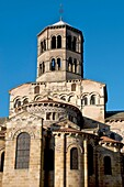 The abbey church of Issoire is one of the five major Romanesque churches in Auvergne. France