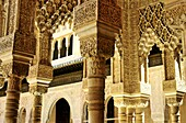 Aged, Alhambra, Andalucia, Andalucian, Andalusia, Arab, Arabesque, Architecture, cities, city, Column, Columns, Courtyard, Europe, European, Granada, Horizontal, Journey, Journeys, Mediterranean, Moorish, Old, Pillar, Round the world, Spain, Spanish, The