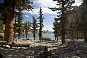 Inyo National Forest, California - Lone Pine Lake at approximately 9900 feet elevation on Mt  Whitney in the Sierra Nevada range  Mt  Whitney is the highest mountain in the continental United States  Copyright Jim West