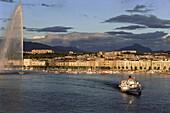 Sunset at the lake of Geneva  Geneva, Switzerland
