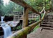 Sabbaday Falls, which is near the Kancamagus Highway route 112, which is one of New England´s scenic byways located in the White Mountain National Forest of New Hampshire, USA