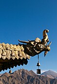 Detail of a dragon ornament at the Jokhang temple, Lhasa, Tibet