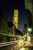 The Belfry tower in the medieval town of Brugge  Flanders Belgium