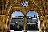 Monastery of Santa María de Iranzu, 12th century cloister  Navarra, Spain