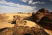 Oued Tin Tarabine  Tassili Ahaggar  Sahara desert  Algeria