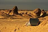 Tent  In Tehog  Tassili Ahaggar  Sahara desert  Algeria