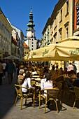 Michalska street old town Bratislava Slovakia EU