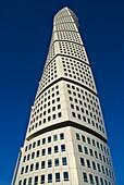 Turning Torse highrise building by Santiago Calatrava at West harbour in Malmö Skåne Sweden Europe