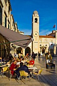 Placa pedestrian street in the old town of Dubrovnik Croatia Europe