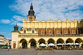 Sukiennice the Cloth Hall at old town square in Krakow Poland Europe