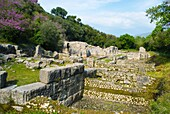 Ruins around the Roman Theatre in ancient Butrint Albania Europe
