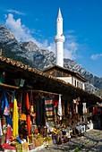 Bazaar in Kruja Albania Europe
