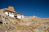 Monastery perched on a hillside in Tibet  Tibet is known as the Roof of the World, with most of the area above 3,000 feet  Under firm Chinese control since 1950, Tibetans are now a minority in their own capital, Lhasa  Recently, there has been political u