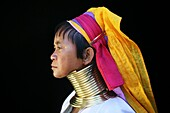 Profile of a Longneck woman  Approximately 300 Burmese refugees in Thailand are members of the indigenous group known as the Longnecks  The largest of the three villages where the Longnecks live is called Nai Soi, located near Mae Hong Son City  Longnecks