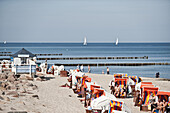 Beach and promenade, Kuhlungsborn, Bay of Mecklenburg, Mecklenburg-Vorpommern, Germany