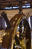 Steering Wheel in Captain's Club aboard Cruiseship MS Astor, near North Cape, Finnmark, Norway, Europe