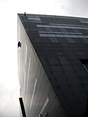 Blick von unten, Anbau der Dänischen Königlichen Bibliothek, Den Sorte Diamant, Der schwarzer Diamant, Insel Slotsholme, Dänemark